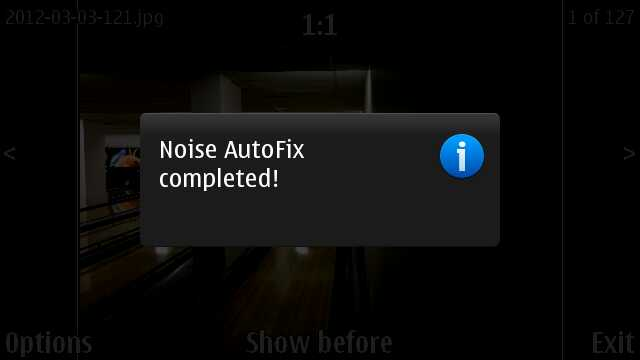 Screenshot, Noise Autofix