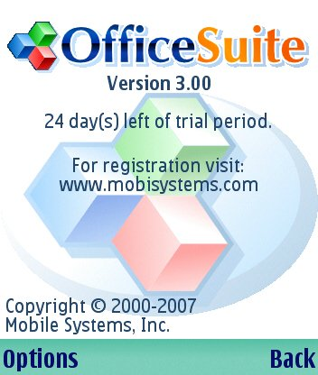 Mobile office is an office suite for the new opendocument format