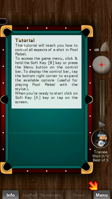 Screenshot, Pool Rebel