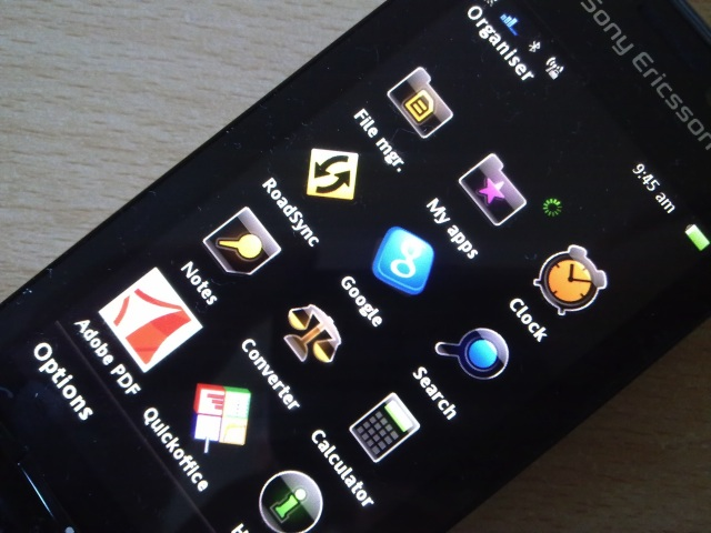 sony ericsson satio apps