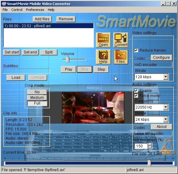 SmartMovie's converter