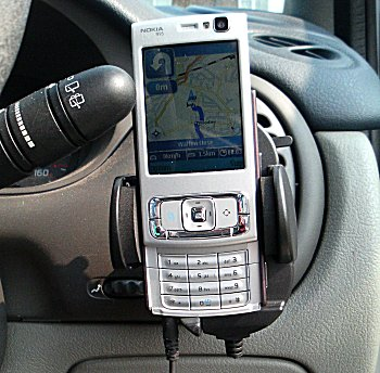 N95 in situ in car