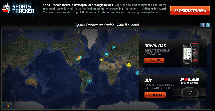 Sports Tracker on the web