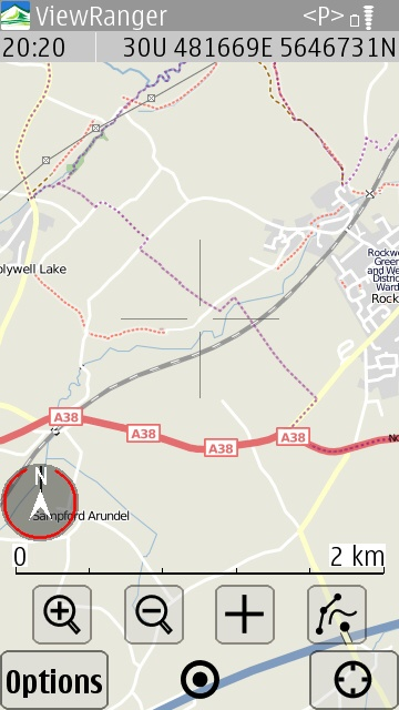 Screenshot, ViewRanger GPS