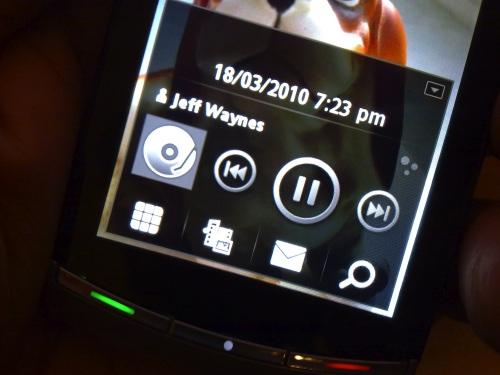 Vivaz homescreen music control