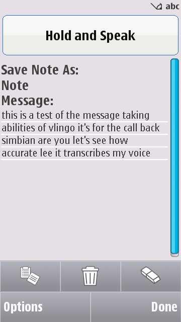 Vlingo screenshot