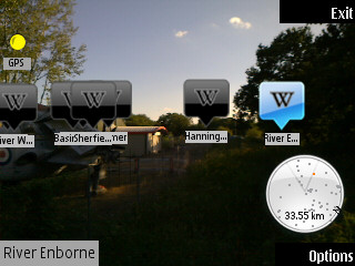 Screenshot, Wikitude