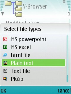 Y-browser screenshot